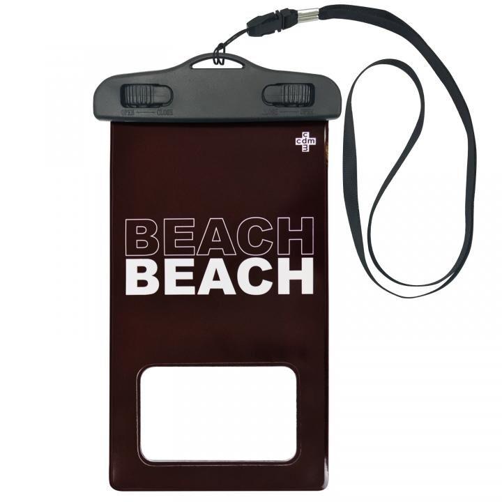 iPhone 11/11 Pro ケース cdm 防水ポーチ BEACH バーガンディ_0