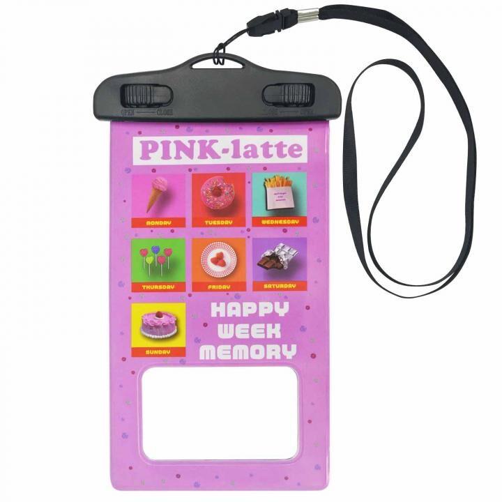 iPhone 11/11 Pro ケース PINK-latte 防水ポーチ Happy week memory_0