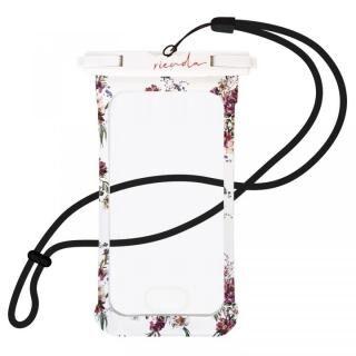iPhone SE 第2世代 ケース rienda 防水ポーチ ホワイト【7月中旬】