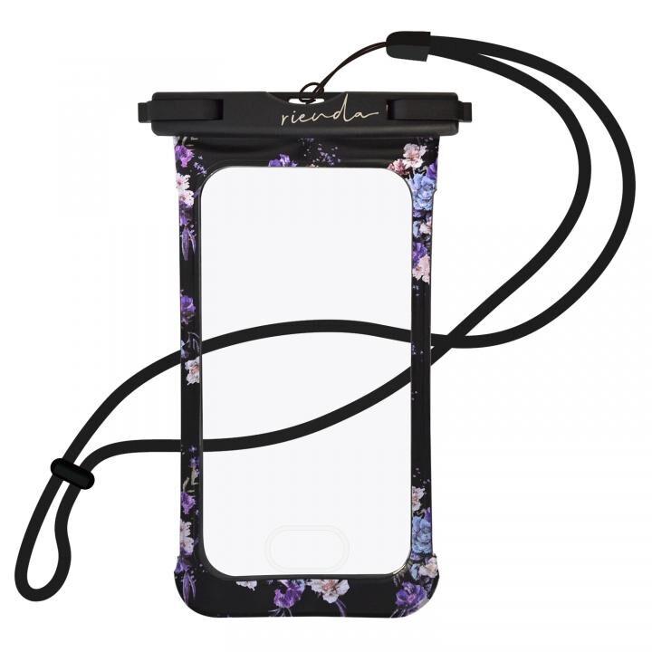 iPhone8/7 ケース rienda 防水ポーチ ブラック_0