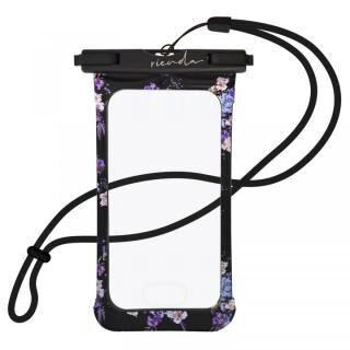 iPhone SE 第2世代 ケース rienda 防水ポーチ ブラック【7月中旬】