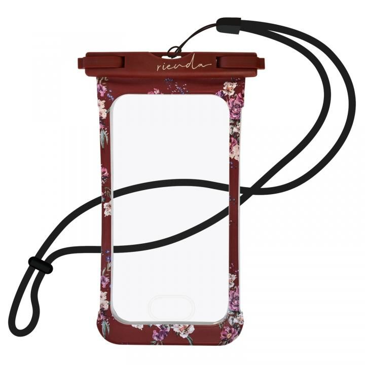 iPhone8/7 ケース rienda 防水ポーチ レッド_0