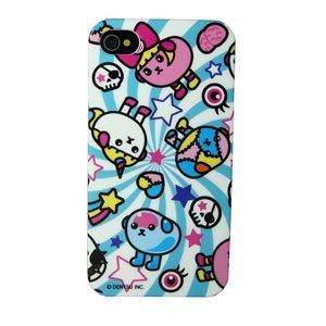 その他のiPhone/iPod ケース 豆しぱみゅぱみゅ iPhone4/4s兼用プラスチックケースカバー (ストーム柄)