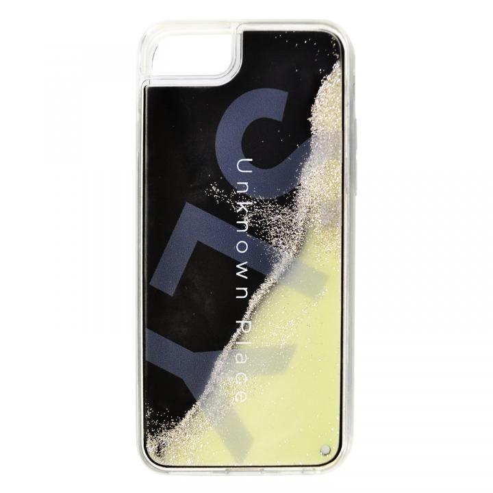 iPhone8/7/6s/6 ケース SLY ラメ入りネオンサンドケース/白×黒 iPhone SE 第2世代/8/7/6s/6_0