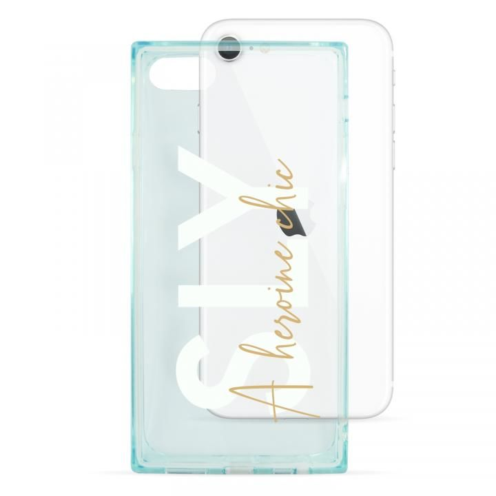 iPhone8/7/6s/6 ケース SLY セミクリアケース A heroine chic light green iPhone SE 第2世代/8/7_0