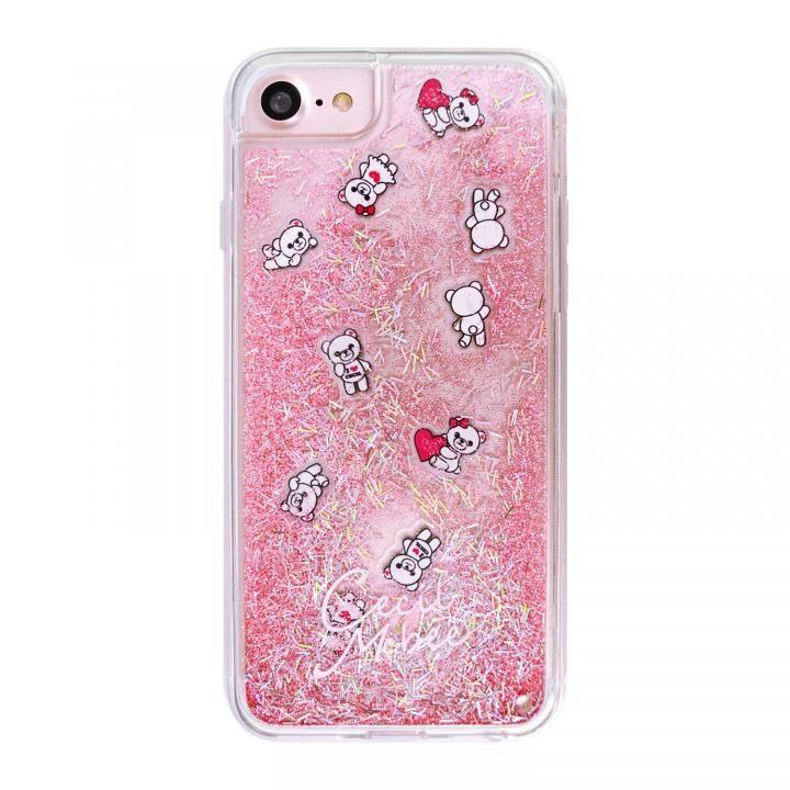 iPhone8/7/6s/6 ケース CECILMcBEE ダイカットプレート入りグリッターケース PINK iPhone SE 第2世代/8/7/6s/6_0