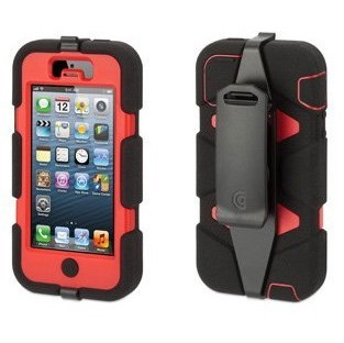 iPhone SE/5s/5 ケース Survivor iPhone5-BLK RED BLK-Black Red Black_0