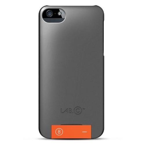 【iPhone SE/5s/5ケース】LAB.C USB CASE  iPhone5 [Grey-Orange]_0