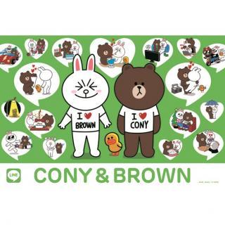 LINE ジグソーパズル 300-789 CONY&BROWN