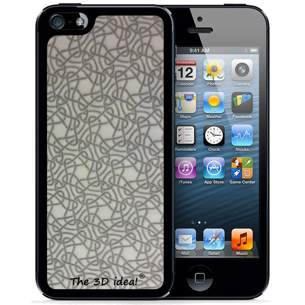 【iPhone SE/5s/5ケース】The 3D idea iPhone5 Skin - White_0