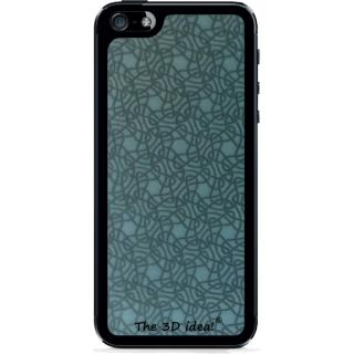【iPhone SE/5s/5ケース】The 3D idea iPhone5 Skin - Blue
