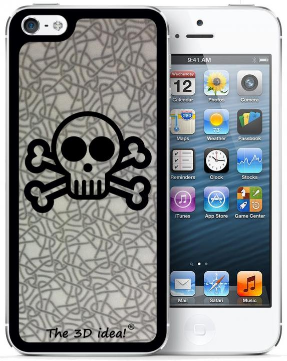 iPhone SE/5s/5 ケース The 3D idea iPhone5 Skin - SKULL_0