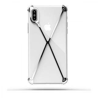 ミニマムデザインカバー RADIUS case Polish シルバー 光沢 iPhone X