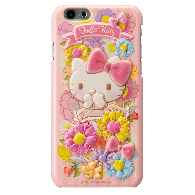 【iPhone6ケース】ハローキティ レリーフケース ピンク iPhone 6_0