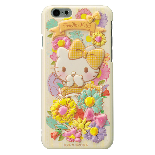 ハローキティ レリーフケース イエロー iPhone 6