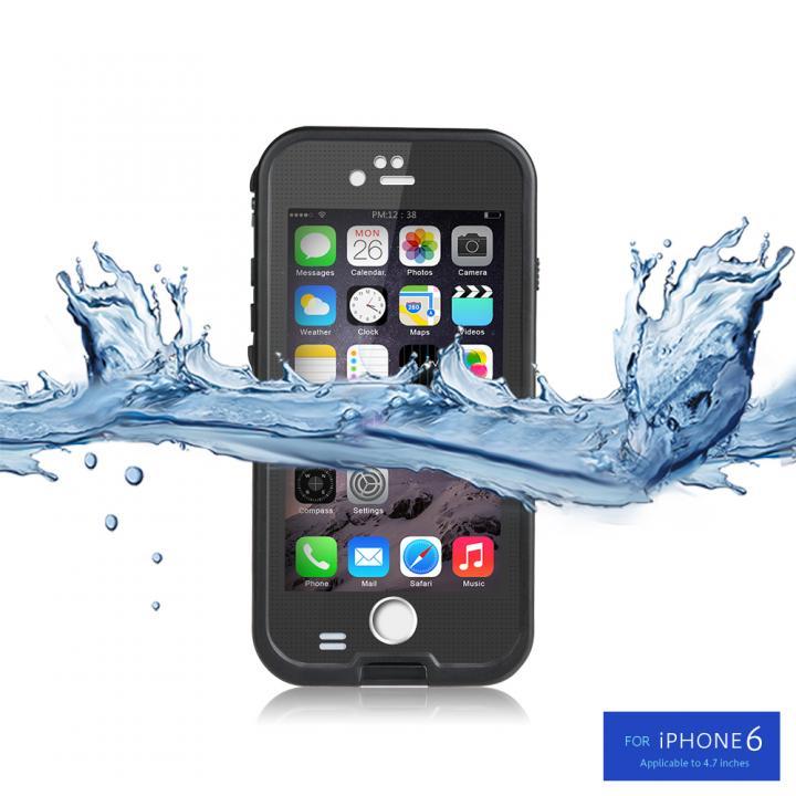 防水/防塵/防雪/耐衝撃タフネスケース WATER PROOF CASE ブラック iPhone 6s/6