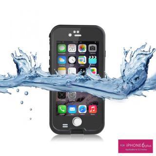 【8月中旬】防水/防塵/防雪/耐衝撃タフネスケース WATER PROOF CASE ブラック iPhone 6 Plus