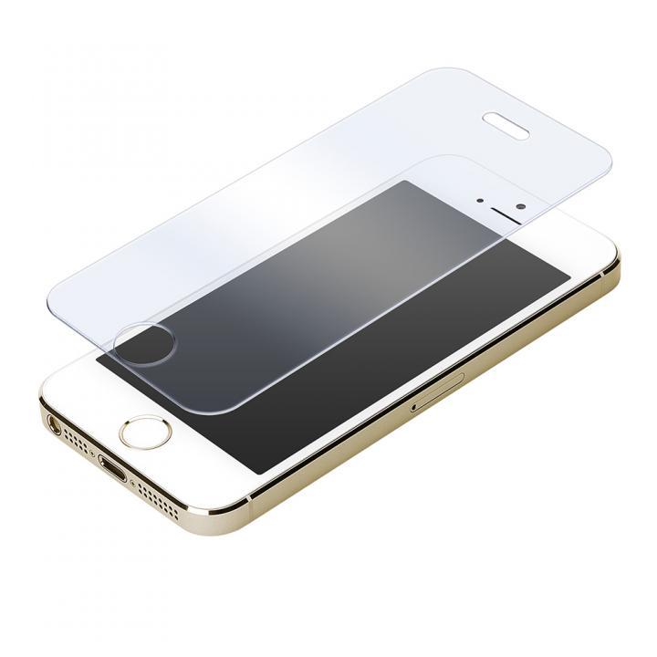 [0.33mm]クリアなブルーライト低減92% 強化ガラス iPhone SE/5s/5/5c