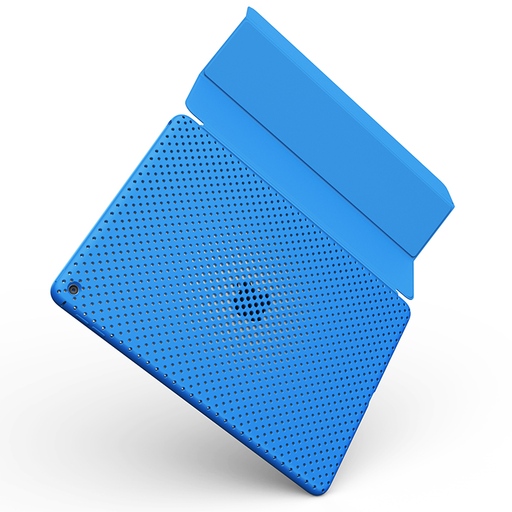 AndMesh エラストマー メッシュケース ブルー iPad Air 2_0