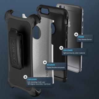 【iPhone6ケース】プラスチック×TPU 2層構造耐衝撃ケース VERUS HARD DROP ACTIVE ライトシルバー iPhone 6_6