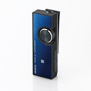 イヤホン・ヘッドホンがワイヤレスになる Bluetooth オーディオレシーバー ブルー