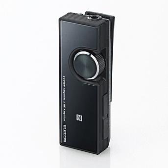 イヤホン・ヘッドホンがワイヤレスになる Bluetooth オーディオレシーバー ブラック