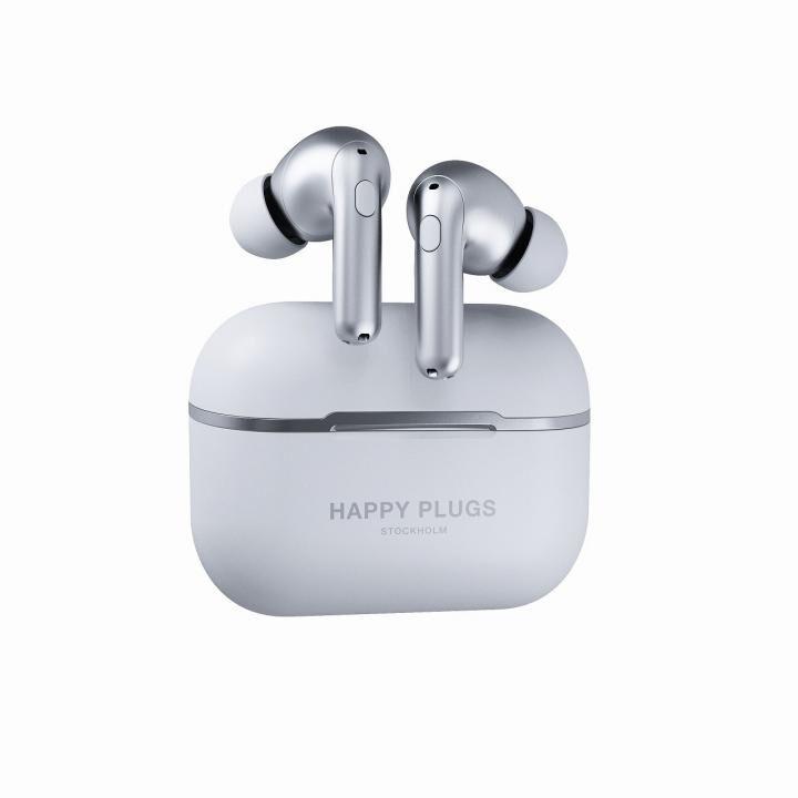 happy plugs AIR 1 ZEN 完全ワイヤレスイヤホン シルバー_0