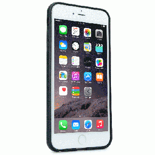 【iPhone6 Plusケース】持ちやすくなるハンドル搭載 本革ケース FINGER SLIP ジェットブラック iPhone 6 Plus_1