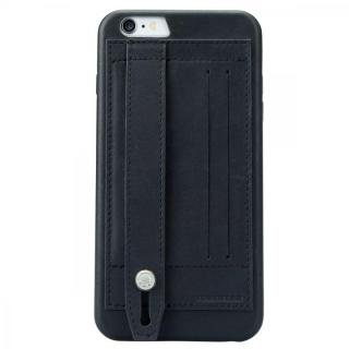 【iPhone6 Plusケース】持ちやすくなるハンドル搭載 本革ケース FINGER SLIP ジェットブラック iPhone 6 Plus_2