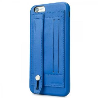 持ちやすくなるハンドル搭載 本革ケース FINGER SLIP コバルトブルー iPhone 6 Plus