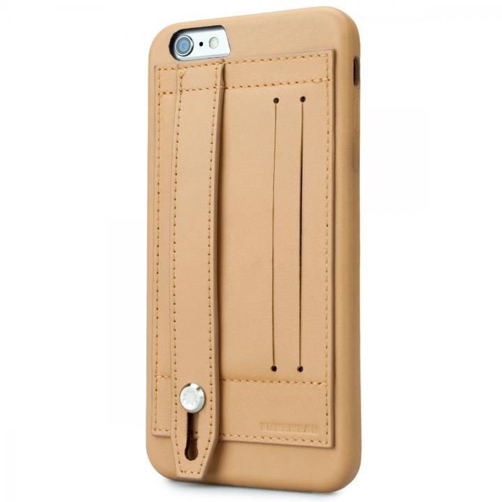 iPhone6 Plus ケース 持ちやすくなるハンドル搭載 本革ケース FINGER SLIP キャメル iPhone 6 Plus_0