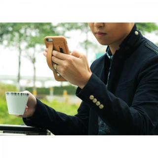 【iPhone6 Plusケース】持ちやすくなるハンドル搭載 本革ケース FINGER SLIP ジェットブラック iPhone 6 Plus_7