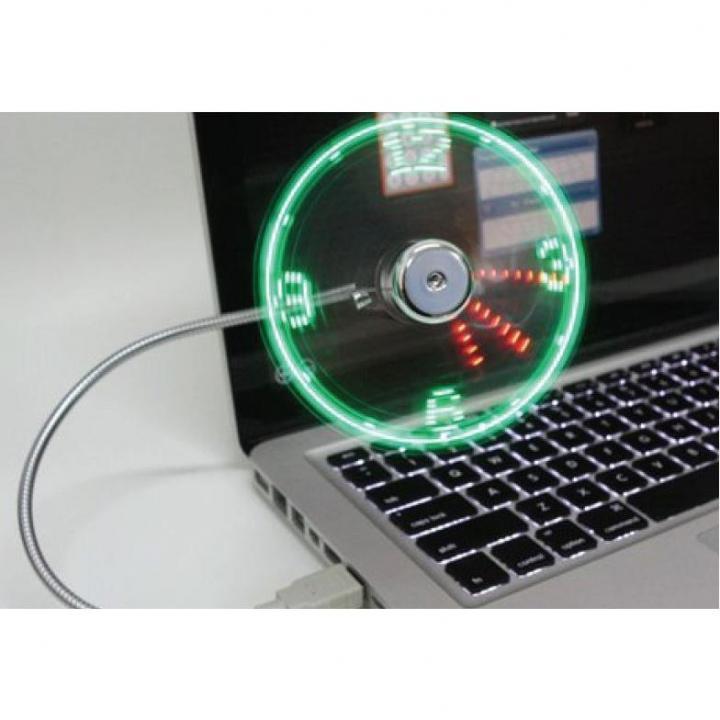 LED付USB扇風機 時計_0
