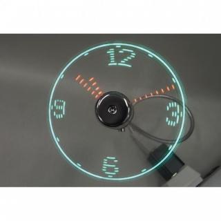 LED付USB扇風機 時計_1