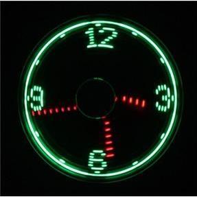 LED付USB扇風機 時計_2