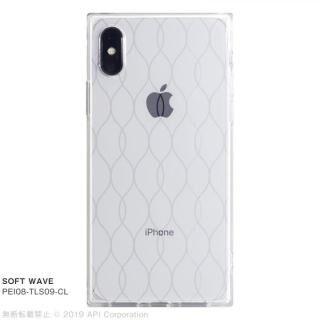 iPhone XS/X ケース EYLE TILE SOFT スクエア型TPUケース WAVE iPhone XS/X