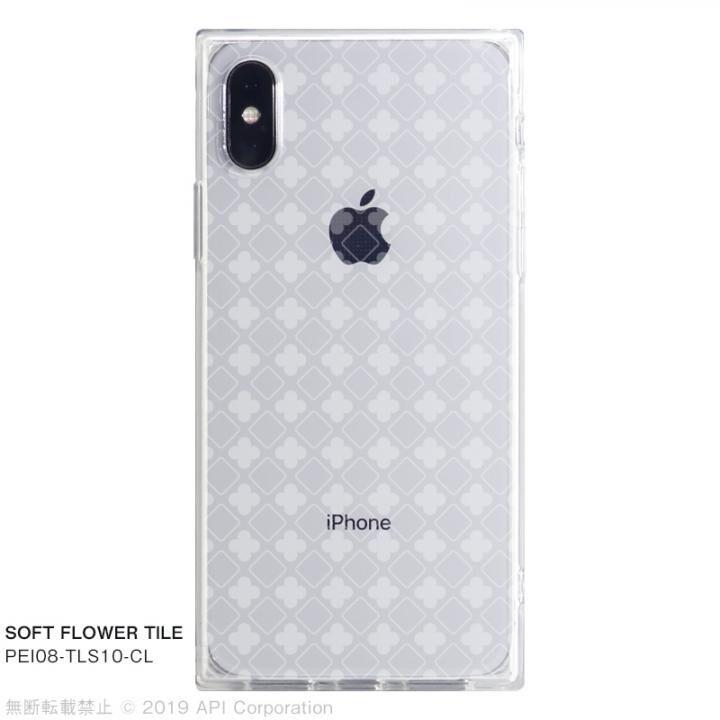 iPhone XS/X ケース EYLE TILE SOFT スクエア型TPUケース FLOWER TILE iPhone XS/X【7月下旬】_0