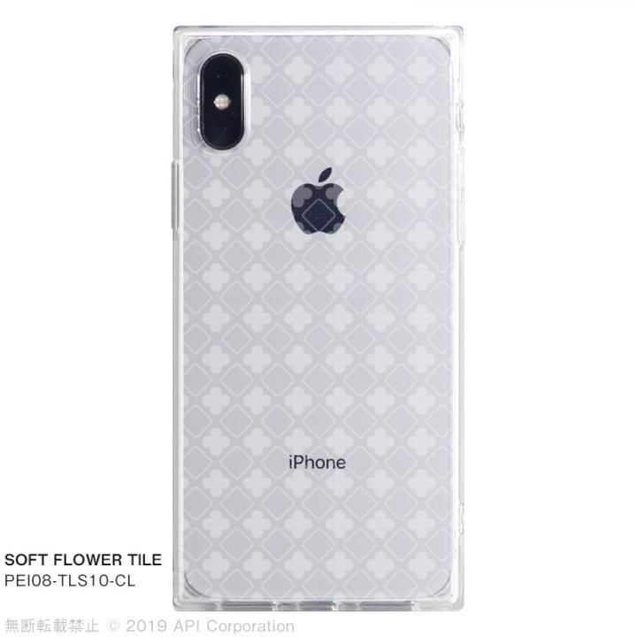 iPhone XS/X ケース EYLE TILE SOFT スクエア型TPUケース FLOWER TILE iPhone XS/X_0