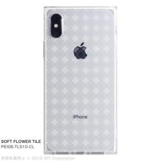 iPhone XS/X ケース EYLE TILE SOFT スクエア型TPUケース FLOWER TILE iPhone XS/X