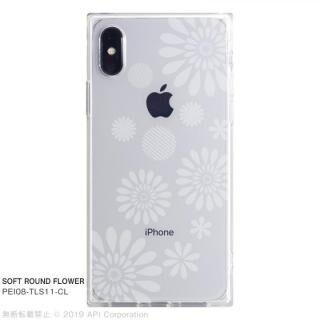 iPhone XS/X ケース EYLE TILE SOFT スクエア型TPUケース ROUND FLOWER iPhone XS/X