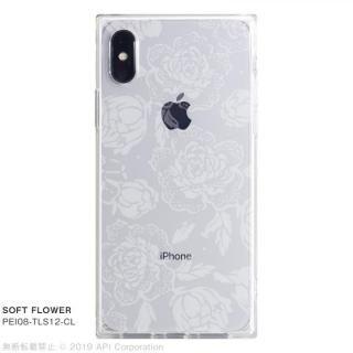 iPhone XS/X ケース EYLE TILE SOFT スクエア型TPUケース FLOWER iPhone XS/X