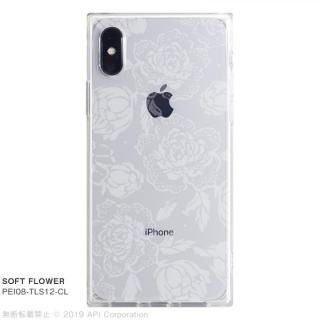 iPhone XS/X ケース EYLE TILE SOFT スクエア型TPUケース FLOWER iPhone XS/X【7月下旬】