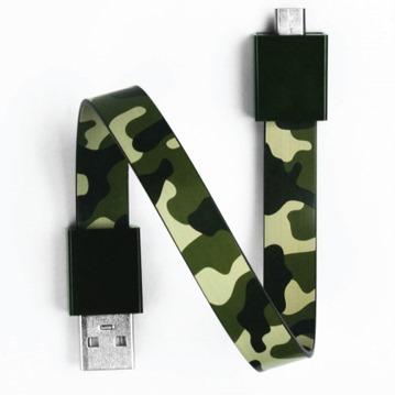 Mohzy Loop USB Cable-Army (Micro USB)_0