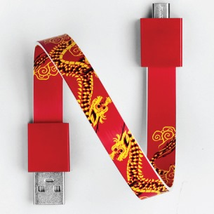 Mohzy Loop USB Cable-Red Dragon (Micro USB)