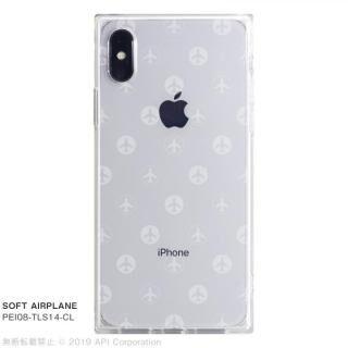 iPhone XS/X ケース EYLE TILE SOFT スクエア型TPUケース AIRPLANE iPhone XS/X