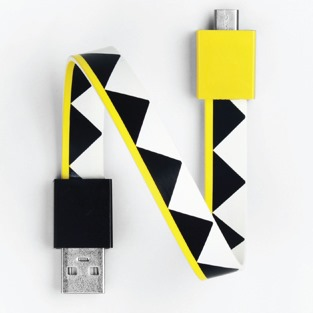 Mohzy Loop USB Cable-ZigZag (Micro USB)