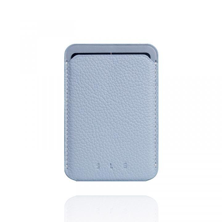 MagSafe対応 Full Grain Leather カードケース パウダーブルー_0