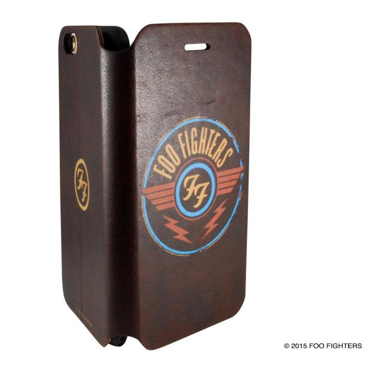 【iPhone6ケース】Rock Spirit FOO FIGHTERS PUレザー手帳型ケース バンドロゴ iPhone 6_0