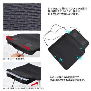 ツイン冷風ファン内蔵「USB爽快クッション」_2