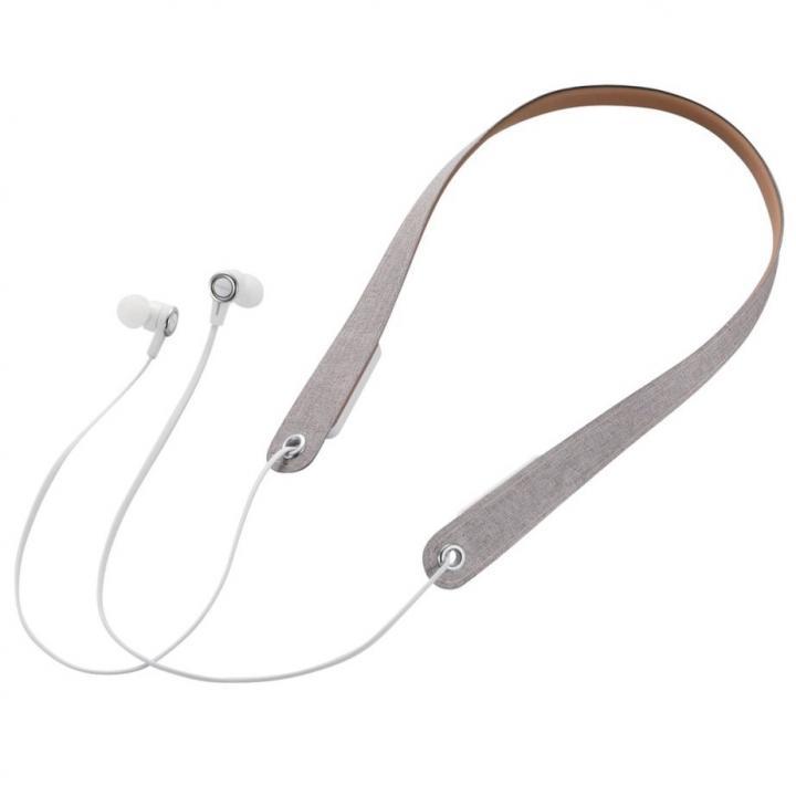 Bluetoothネックストラップイヤホン ホワイト_0
